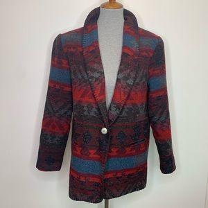 Coldwater Creek Aztec Blanket Jacket Blazer